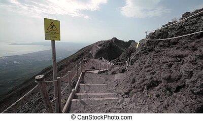 Vesuvius volcano, Italy. May 2015. The path to the summit of Mount Vesuvius.