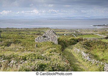 Track on Inishmore, Aran Islands - Open Track on Inishmore,...