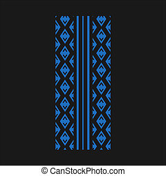 Track tread blue RGB color icon. Detailed automobile, motorcycle street tyre marks. Symmetric car wheel print. Vehicle tire trail. Isolated vector illustration on black background