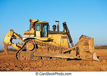 track-type, bulldozer, chargeur