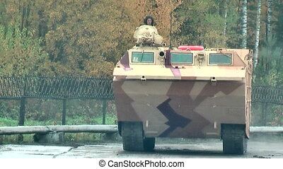 Tracked amphibious carrier PTS-4. Russia - Nizhniy Tagil,...