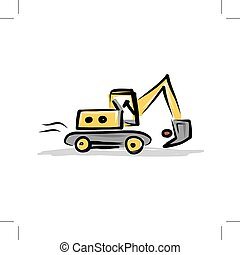 Tracked excavator, construction equipment for your design,...