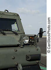 Tracked military vehicle - Front detail of tracked military...
