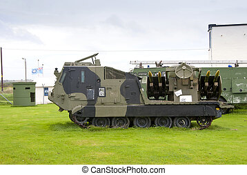 Tracked Missile Launching Vehicle - A Tracked Army Missile...