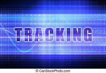 Tracking on a Tech Business Chart Art