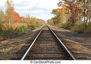 tracks, падать, вокруг, один, нет, поезд