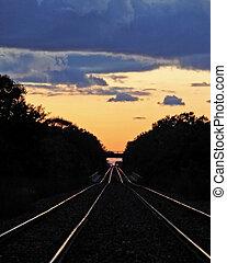 Tracks at Sunset#4