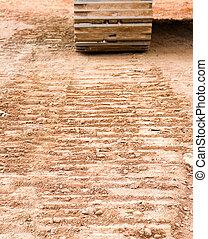 Tracks in dirt