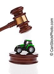 tracteur, être, auctioned., volonté