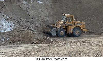 tracteur, creuser