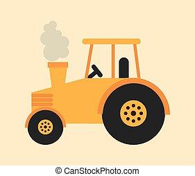 tracteur, icône