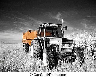 tracteur, infrarouge