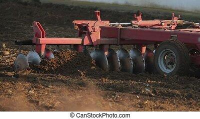 tracteur, labourer, agricole, sol