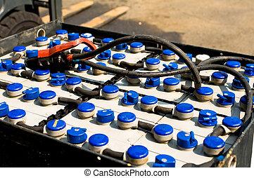 traction, batterie, élévateur