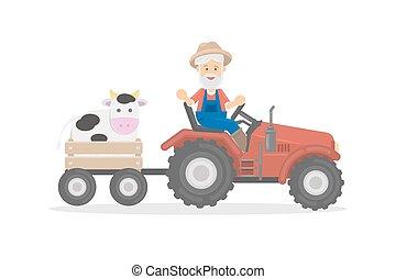 tractor., 農夫