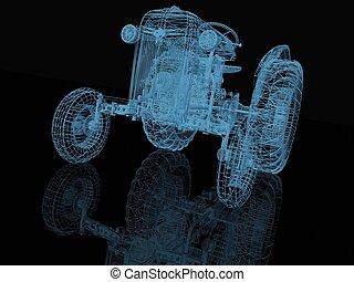 tractor 3d  model