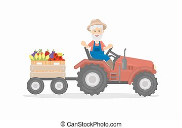 tractor., agricultor
