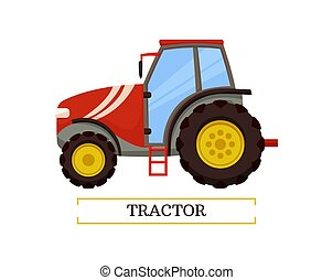 Tractor Agricultural Machinery Vector Illustration - Tractor...