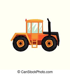 Tractor agriculture industrial farm equipment, rural machinery vector Illustration on a white background