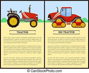 Tractor Agriculture Machines Vector Illustration