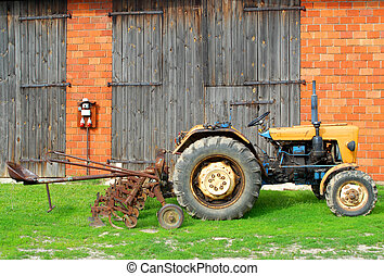 Tractor and farm, agricultural issues, modernization