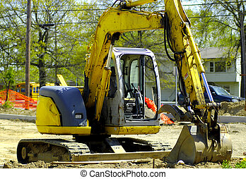Tractor at a Construction Site