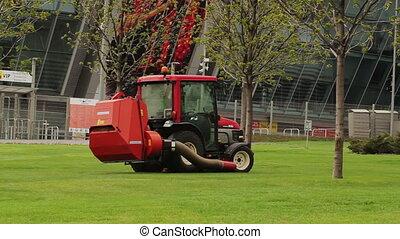 tractor, blad, aanjager