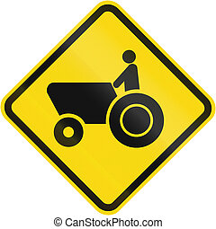 Tractor Crossing warning sign used in Brazil