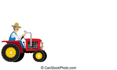 Tractor Cycle Isolated - Tractor cycle looping animation...