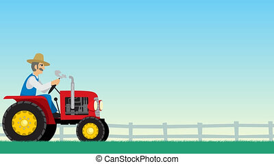 Tractor Cycle - Looping animation of tractor driving around...