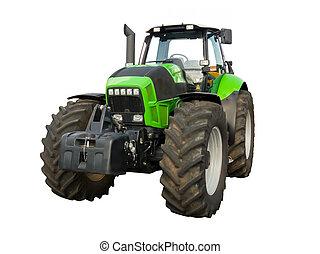 tractor de la granja, verde