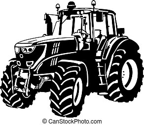 Tractor - Vector illustration of an tractor.