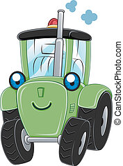 Tractor - Illustration of a Happy Tractor