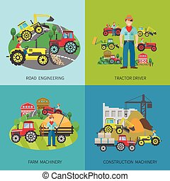 Tractor Driver Flat Set