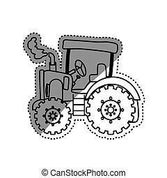 Tractor farm machinery icon vector illustration graphic design