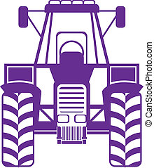 Tractor front - tractor front illustration clip-art eps...
