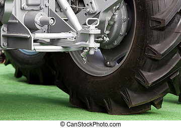 Tractor hitch and tow bar - Close up of new tractor hitch ...