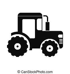 Tractor icon black