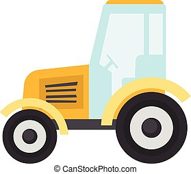 Tractor icon, flat style