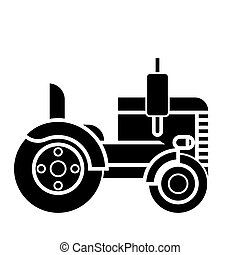 tractor  icon, vector illustration, sign on isolated background