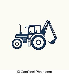 Tractor icon with a higher lift.
