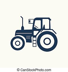 Tractor icon with a vacuum hose.