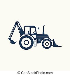 Tractor icon with higher lift and bale spake.