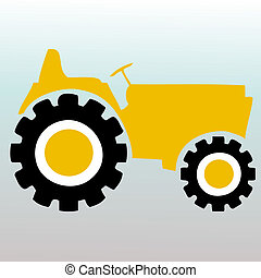 Tractor graphic illustration vector logo