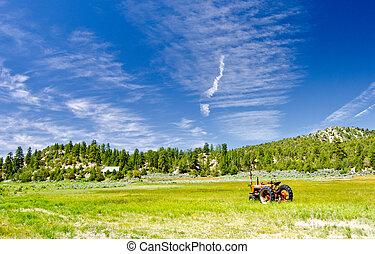 Tractor in a Field in Utah
