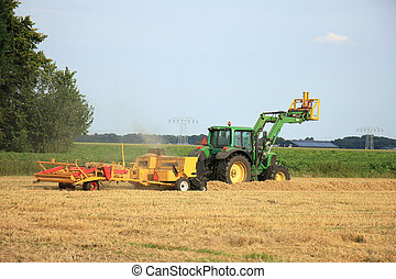 Tractor in a field