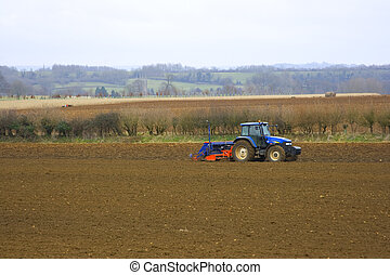 Tractor In fields