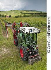 Tractor in the Vineyard