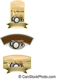 Tractor Labels - Collection of tractor labels with a farm ...