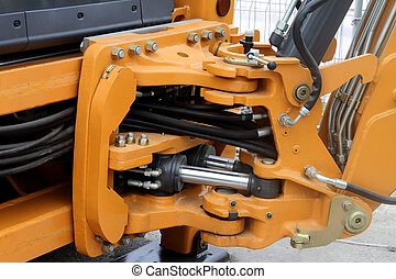 tractor., mangueras, hidráulico, eslabón giratorio
